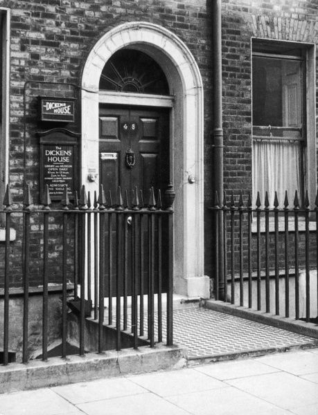 No. 48, Doughty Street, Holborn, London, the residence of Charles Dickens from 1837 until 1839