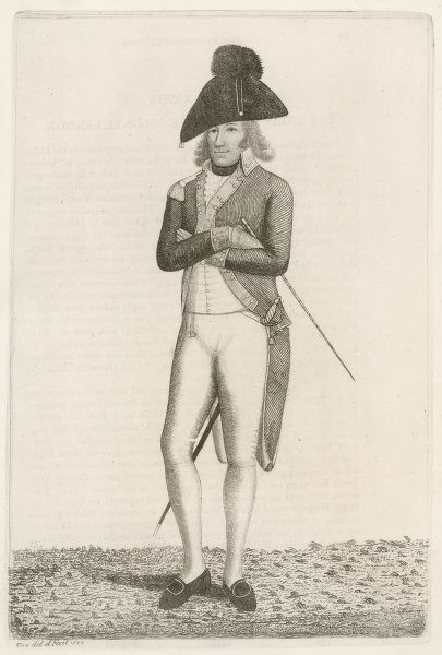 Charles Lennox, 4th duke of RICHMOND and Lennox Depicted as a soldier at the outbreak of hostilities with France