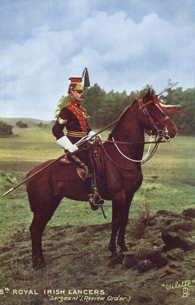 5th Royal Irish Lancers - Sergeant (Review Order). Date: 1910s