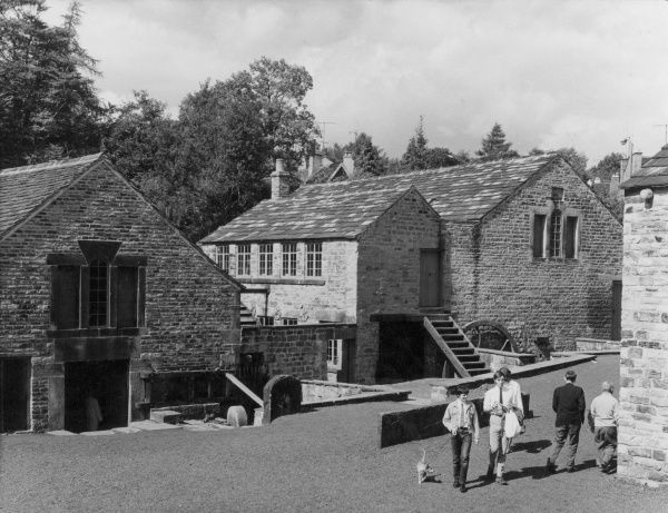 The original stone buildings of the Abbeydale factory, Derbyshire, England. Date: late 1960s