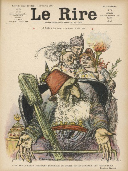 ABDUL HAMID II Ottoman Sultan (1876-1909): satirical view of a warmonger and incompetent ruler