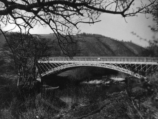 Abermule Bridge, over the River Severn, Montgomeryshire, Wales. Date: 1852
