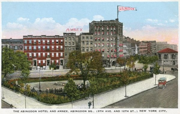 Abingdon Hotel and Annex, Abingdon Square, New York City, America