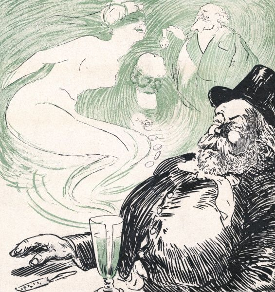 Fame, wealth, love... all for the price of an absinthe. Date: 1908