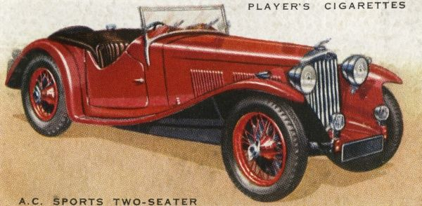 A.C. sports two-seater - maximum speed 90 mph ! Date: 1936
