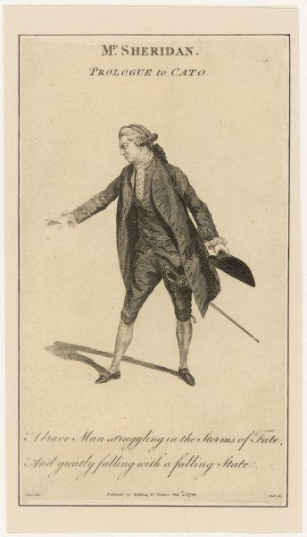"Thomas Sheridan, actor and father of Richard Brinsley Sheridan, in the prologue to Joseph Addison's play ""Cato&quot"