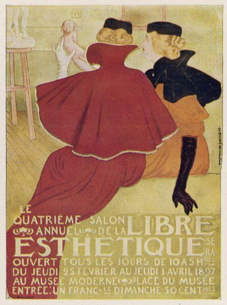 Poster for La Libre Esthetique, Brussels