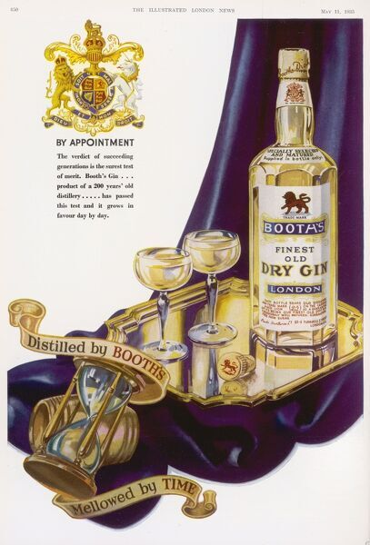 Booth's Finest Old Dry Gin - by appointment