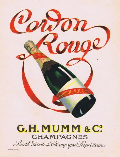 Advert for Cordon Rouge Champagne, 1927, France Date: 1927