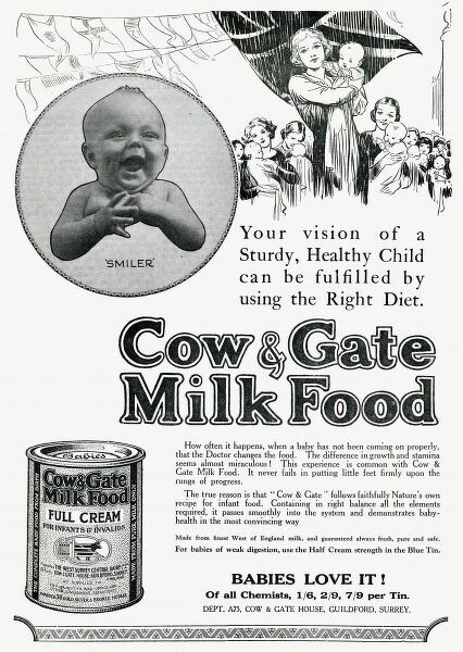 Cow & Gate formula, made of pure milk only