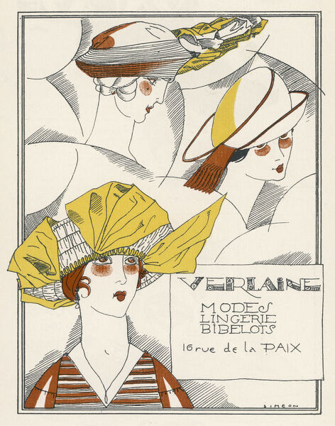 A hat selection from Verlaine of Paris: a large beret reminiscent of those from 1820s - 1840s; a soft brimless hat & a hat with an angled crown & double brim