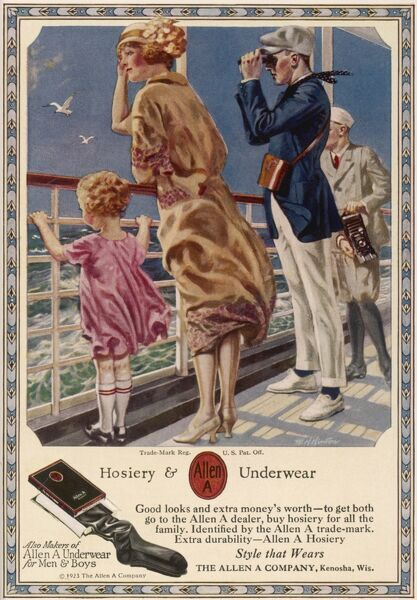 Hosiery and underwear from The Allen A Company