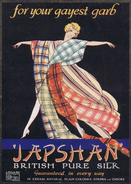 Advert for Japshan British pure silk, 1927, London Date: 1927