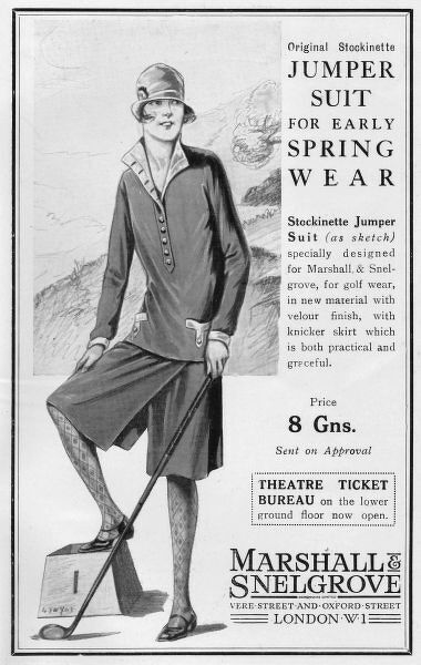 Advert for Jumper Suit by Marshall & Snelgrove, 1926, London Date: 1926