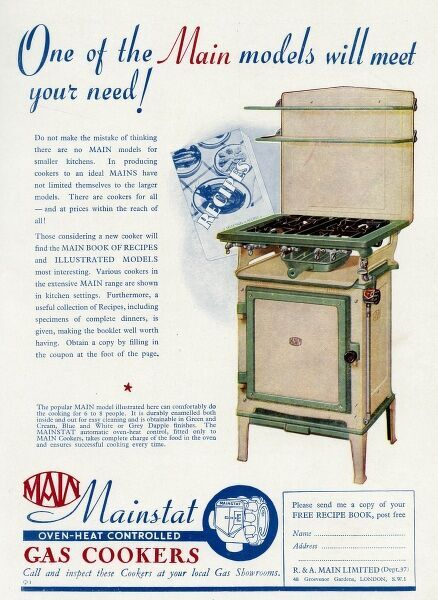 One of the Main models will meet your needs! Advertisement for Main cookers for smaller kitchens