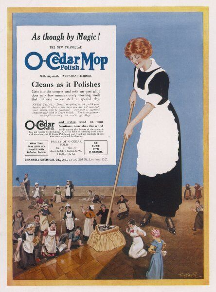 O-Cedar Polish Mop - cleans as it polishes
