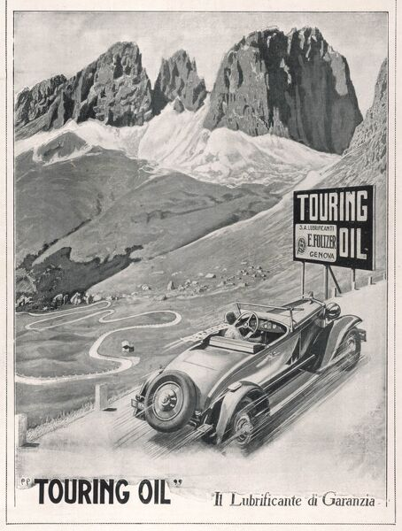 Touring Oil (mountain scene)