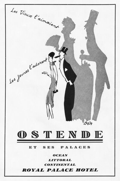 Advert for Ostende, Belgium (The Royal Palace Hotel), 1930 Date: 1930