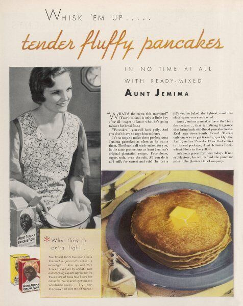 Aunt Jemima's Pancake Mix for tender, fluffy pancakes