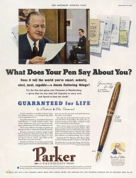 Parker pens - what does your pen say about you ?