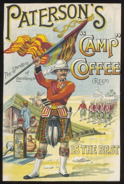 Advertisement for Paterson's 'Camp' Coffee, which is claimed to be the best
