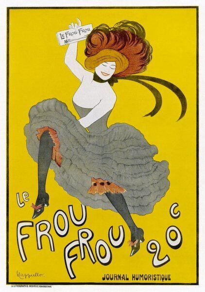Poster for Le Frou-Frou, humorous magazine