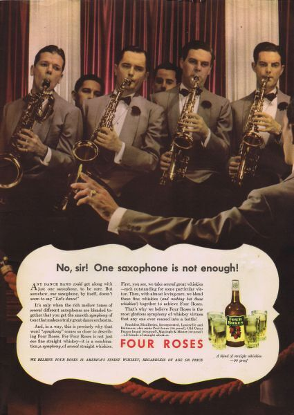 Advert for Four Roses whiskey, New York, 1937 Date: 1937