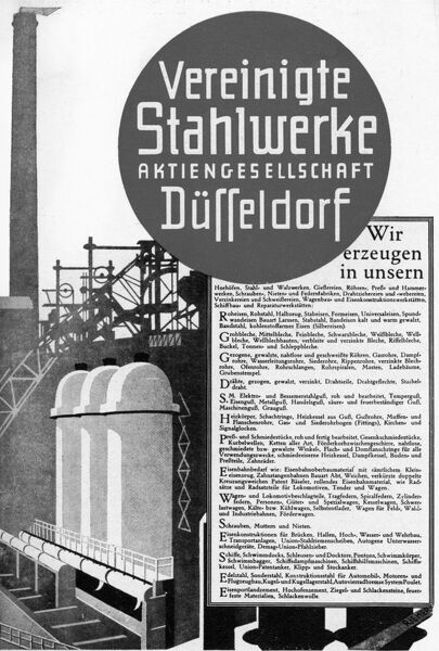 Ad for steelworks Date: 1930