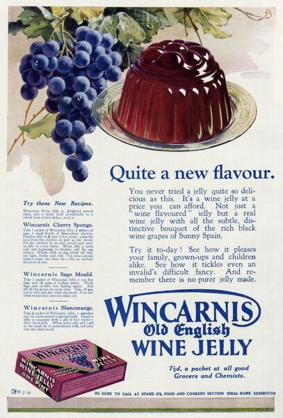 'Quite a new flavour'. You never tried a jelly quite so delicious as this