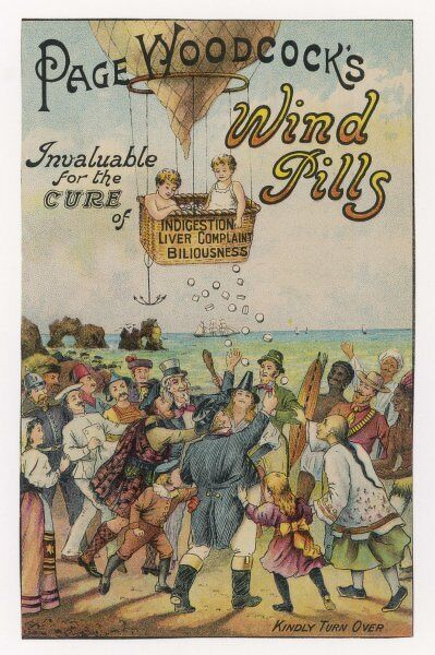Page Woodcock's Wind Pills: invaluable for the cure of indigestion, liver complaints and biliousness