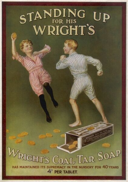 Wright's Coal Tar Soap - standing up for his Wright's