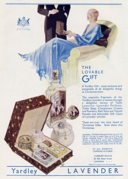 Yardley Lavender, 'The lovable gift' most welcome and acceptable of all delightful things at Christmas time. Date: 1932