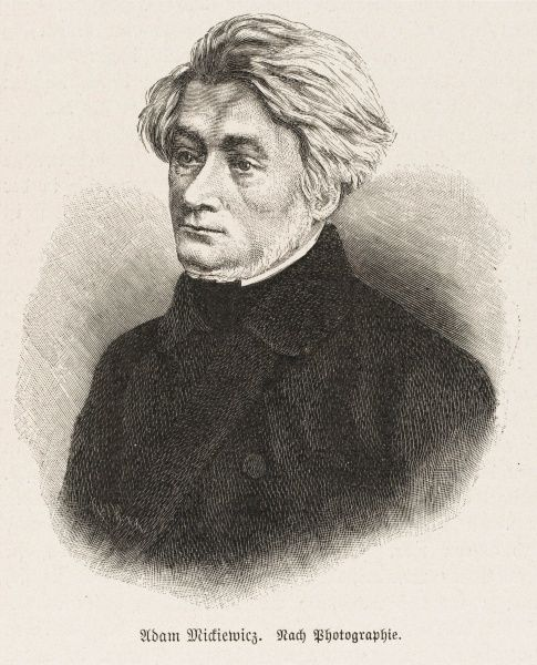 ADAM MICKIEWICZ Polish poet and radical