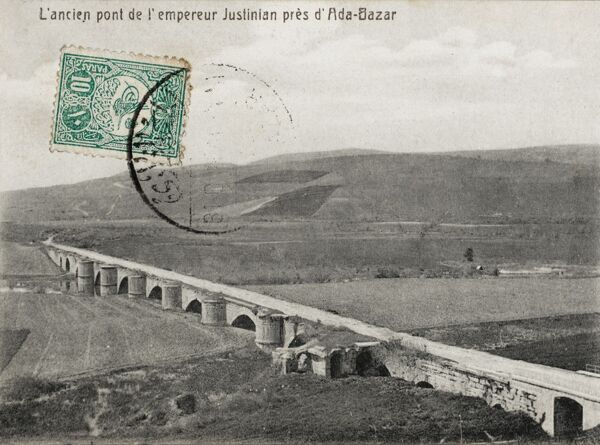 Ancient Bridge built by the Emperor Jusitinian close to Adapazar, Turkey - now called Sarkaya