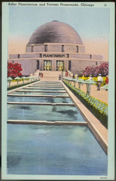 The Adler Planetarium, Chicago, built at a cost of one million dollars to 'demonstrate the beauties and mysteries of the universe&#39