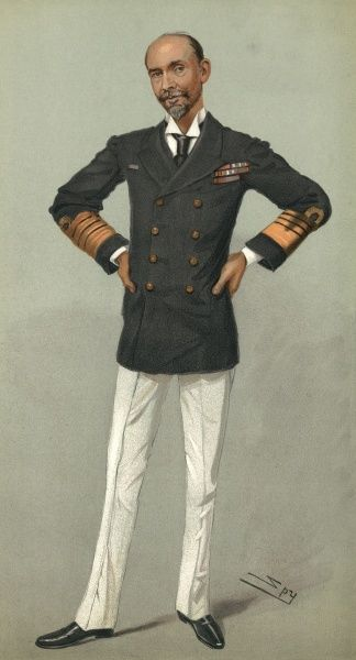 Admiral Sir Edward Hobart Seymour in a Vanity Fair cartoon by Spy. Seymour (1840 - 1929) was a Royal Navy officer and Commander-in-Chief of the China Station during the Boxer Rebellion. Date: 31st October 1901
