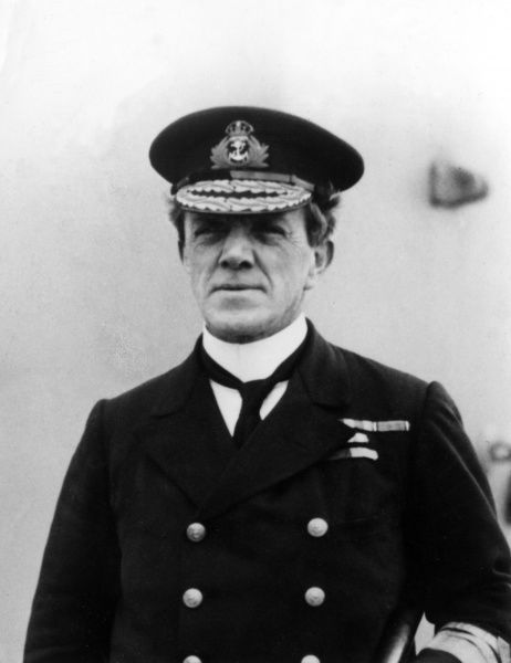 Sir Frederick Charles Doveton Sturdee (1859-1925) - Admiral of the fleet in the British Navy who defeated von Spee at the Battle of the Falklands. Date: circa 1916