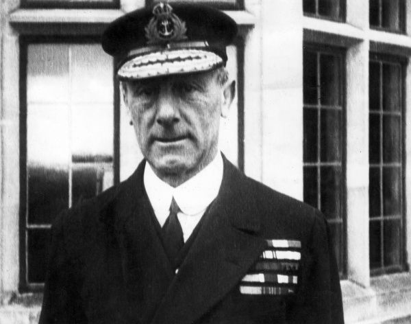Admiral Sir John Rushworth Jellicoe, 1st Earl Jellicoe (1859-1935), British Royal Navy admiral. He commanded the Grand Fleet at the Battle of Jutland (1916) during the First World War. Date: 1914-1918