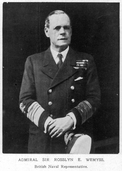 Admiral Sir Rossyln E. Wemyss(1864-1933), first sea lord of the Admiralty. He acted as the British naval representative at the Armistice