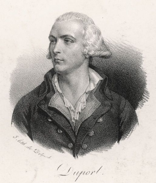 ADRIEN DUPORT - French revolutionary magistrate and statesman, fled first to England, subsequently to Switzerland where he died, his head still on his shoulders
