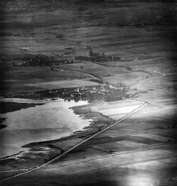Aerial photograph (German) of the area around La Chaussee, northern France, during the First World War. Date: 17 September 1916