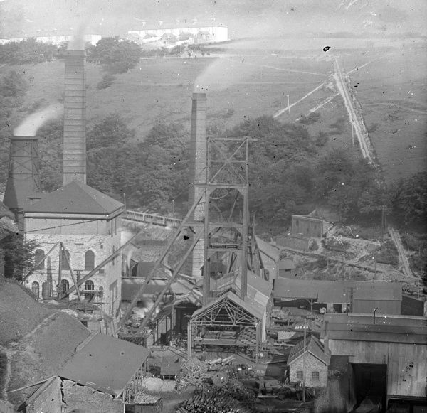 An aerial view of Tirpentwys Colliery near Pontypool in South Wales
