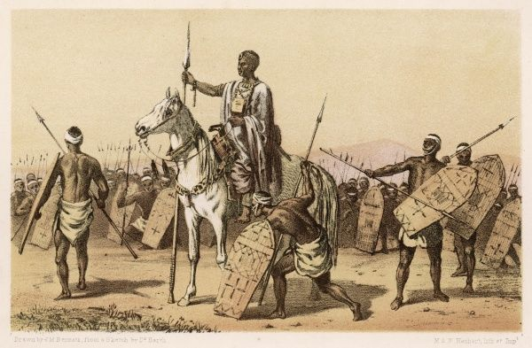 Kannema, a chieftain encountered by explorer Heinrich Barth in the course of his travels in west and central Africa