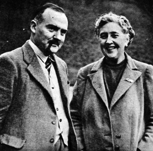 Photograph of Agatha Christie (1890-1976), thriller writer and her husband, Max Mallowan (1904-1978), archaeologist