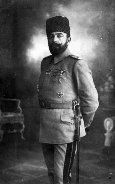 Ahmed Jemal (Djemal, Cemal) Pasha (1872-1922), Commander-in-Chief of the Fourth Ottoman Army during the First World War. Date: circa 1915