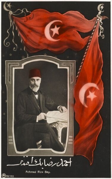 Ahmed Riza Bey. Liberal emigree who prepared the groundwork for a future revolution against Sultan Abd�d II Date: circa 1909