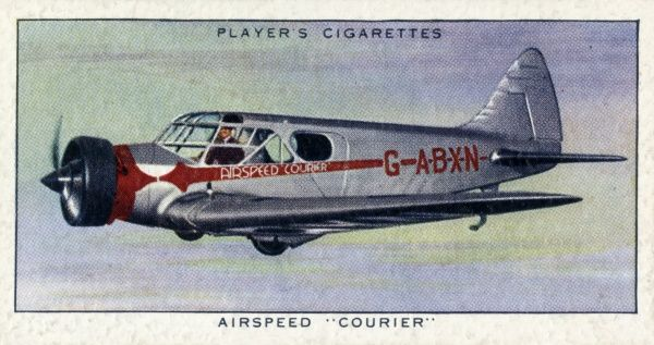 "The Airspeed ""Courier"" aeroplane, a commercial cabin monoplane seating five passengers and one pilot. Date: circa 1936"