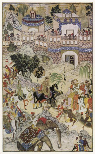 Mughal emperor AKBAR ('the Great') enters Surat, Gujerat, after an astonishingly rapid 11-day campaign