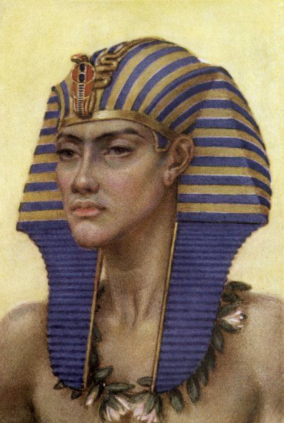 AKHENATON also known as AMENHOTEP IV or AMENOPHIS IV Egyptian ruler, began a new religion of Aton, the sun disc