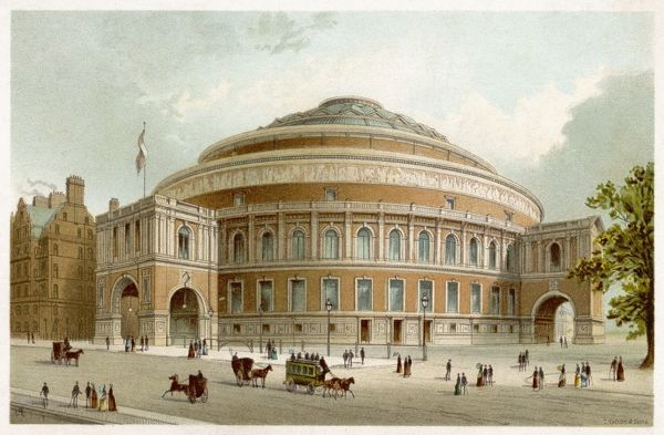 A view of the exterior of the Royal Albert Hall